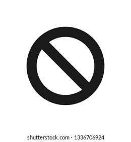 Block icon, unavailable icon