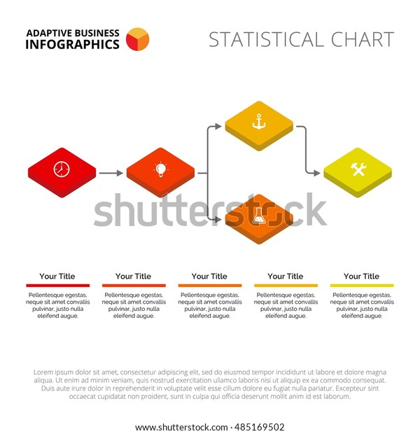 Block Scheme Diagram Slide Template Stock Vector Royalty Free 485169502