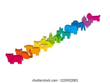 Block of zodiac animals