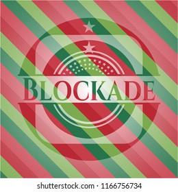 Blockade christmas emblem background.