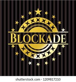 Blockade gold badge or emblem
