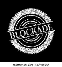 Blockade on blackboard. Vector Illustration. Detailed.