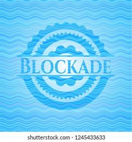 Blockade water concept emblem background.
