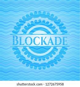 Blockade water representation emblem background.