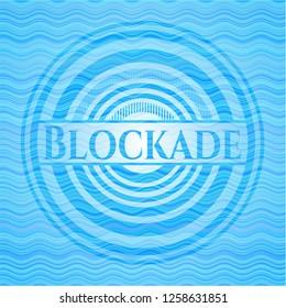 Blockade water wave style emblem.