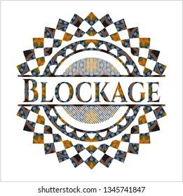 Blockage arabesque style badge. arabic decoration.