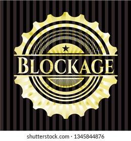 Blockage gold shiny emblem