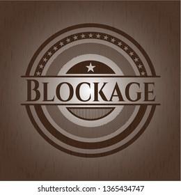Blockage retro wood emblem