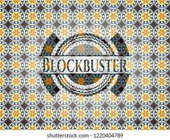 Blockbuster arabesque emblem. arabic decoration.