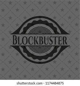 Blockbuster black emblem. Vintage.