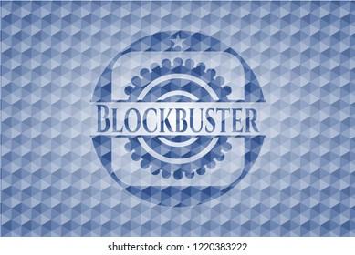 Blockbuster blue hexagon badge.