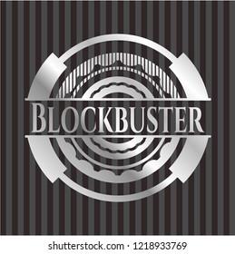 Blockbuster silvery badge or emblem