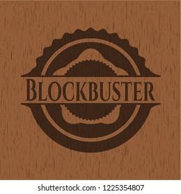 Blockbuster vintage wooden emblem