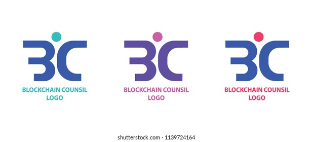Blockchain association logo template