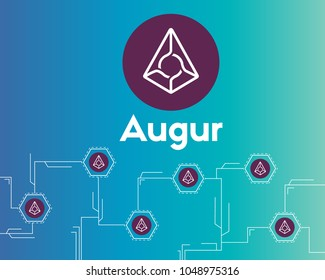 Blockchain augur cryptocurrency networking circuit background