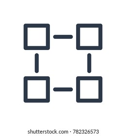 Blockchain icon. Isolated connection and blockchain icon line style. Premium quality vector symbol drawing concept for your logo web mobile app UI design.