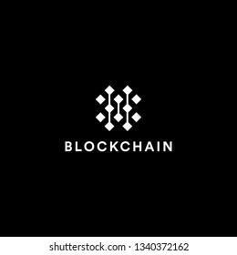 Blockchain Logo Template. Technology Vector Design. Cryptocurrency Illustration