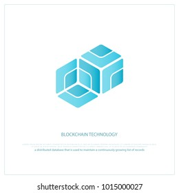 blockchain technology icon. vector smart contract block isolated sign. decentralized transactions logo design. crypto currencies network logotype