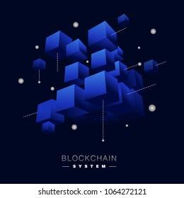 Blockchain vector concept