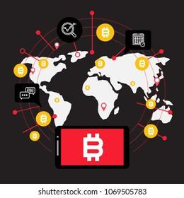 Blockchain vector concept illustration