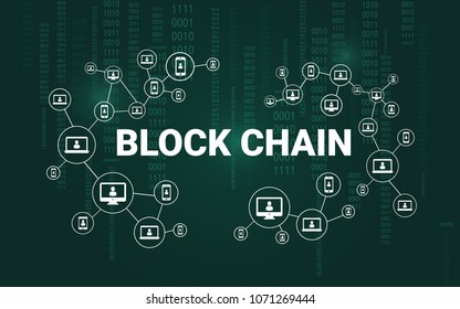 Blockchain vector illustration.