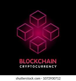 Blockchain vector illustration