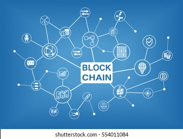 Blockchain vector illustration background