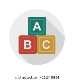blocks glyph flat vector icon