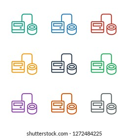 blod pressure tool icon white background. Editable outline blod pressure tool icon from health. Trendy blod pressure tool icon for web and mobile.