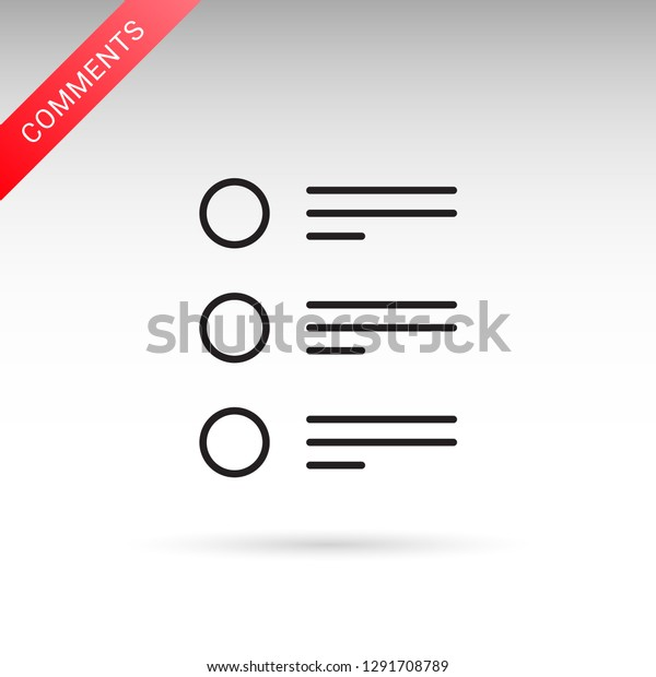 Blog Comments Tasks List Schedule Isolated Stock Vector (Royalty
