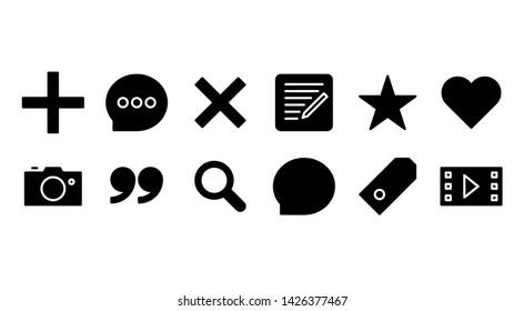 blog glyph icon symbol set