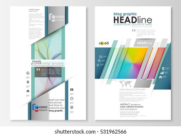 Blog Graphic Business Templates Page Website Stock Vector (2018 ...