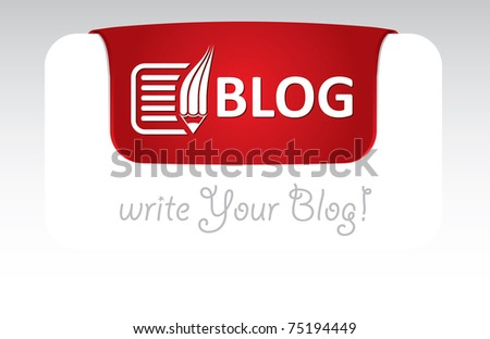 Blog Header Template Text Icon Stock Vector (Royalty Free) 75194449 ...