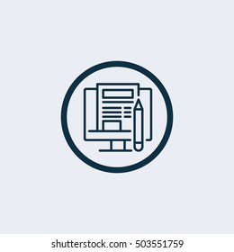 Blog Icon. blogging icon.forum icon. Vector illustration
