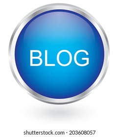 blog icon glossy button