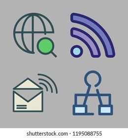 blog icon set. vector set about rss, clip, rss feed and web icons set.