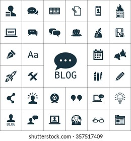 blog icons universal set for web and mobile