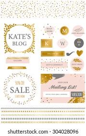 Blog Kit Icons and Symbols Branding Set