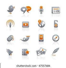 Blog & New Media Web Icons // Graphite Series