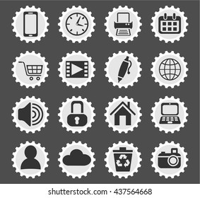 blog web icons for user interface design