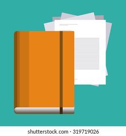 Blogger concept objetcs design, vector illustration eps 10