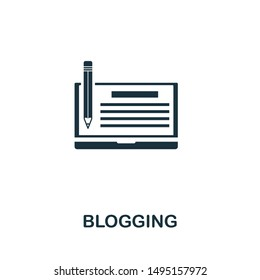 Blogging icon vector illustration. Creative sign from passive income icons collection. Filled flat Blogging icon for computer and mobile. Symbol, logo vector graphics.