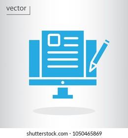 blogging icon - vector illustration EPS 10, flat design icon