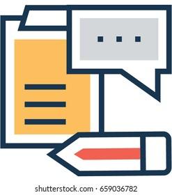 Blogging Vector Icon