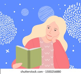 Student Read Stock Vectors Images Vector Art Shutterstock