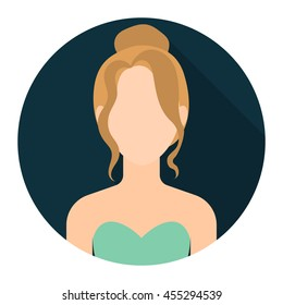 Blonde icon flat. Single avatar,peaople icon from the big avatar collection.