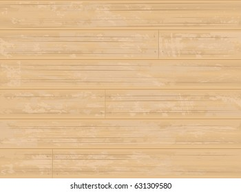 Blonde Maple Wood Timber Flooring or Siding Planks with Peeled Paint Background  - Detailed vector, Grouped and Layered, easy to edit and change colors EPS10