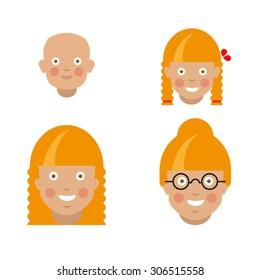 Blonde woman generation set