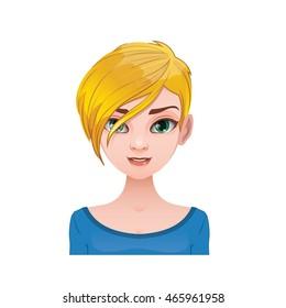 Short Blonde Hair Images Stock Photos Vectors Shutterstock