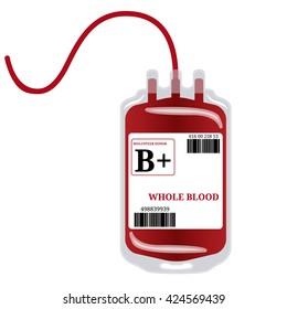 Blood Bag isolated on white. Vector illustrator EPS